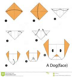 How To Make Paper Dogs - step by step how to make origami a stock