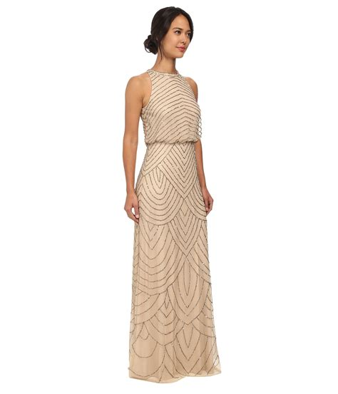 beaded halter gown papell beaded halter gown in lyst