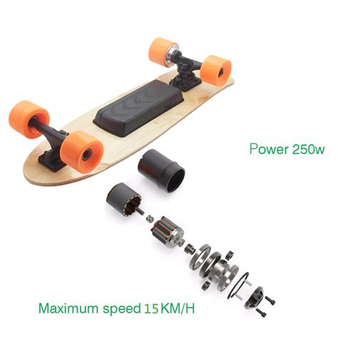 Electric Skateboards 250 Watt With Wireless Remote Fd24v 250c K Electric Skateboard Longboard Maple Board Wireless Remote 250w Motor 15km H Ebay