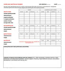 monthly business report template 21 monthly sales report templates free sle exle