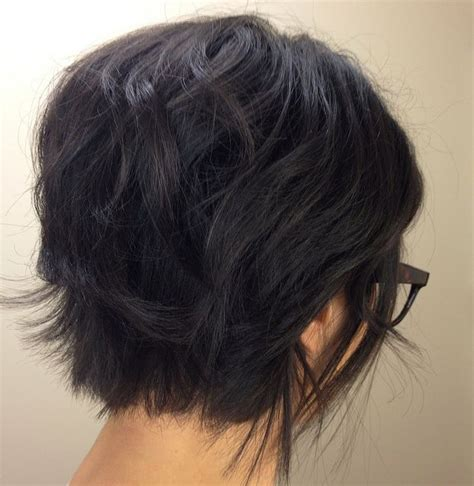 front and back views of chopped hair short hair back view hair pinterest