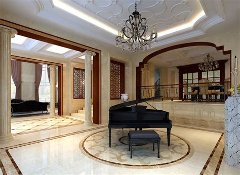 Luxury Villas Interior Design - piano room download 3d house