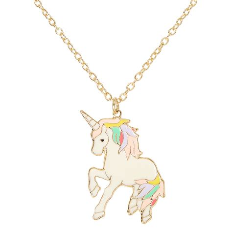 Long Magical Unicorn Necklace   Claire's