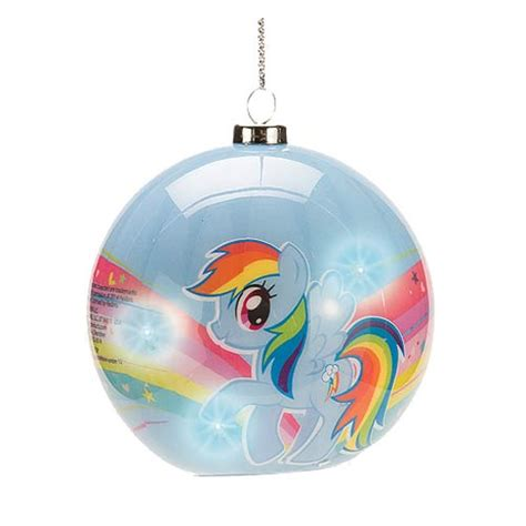 my little pony rainbow dash light up ball ornament