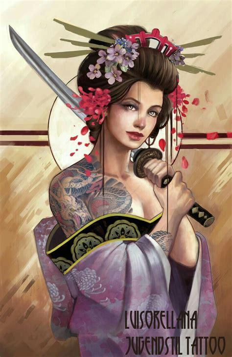 tattoo geisha e samurai 72 best artwork images on pinterest drawings fantasy