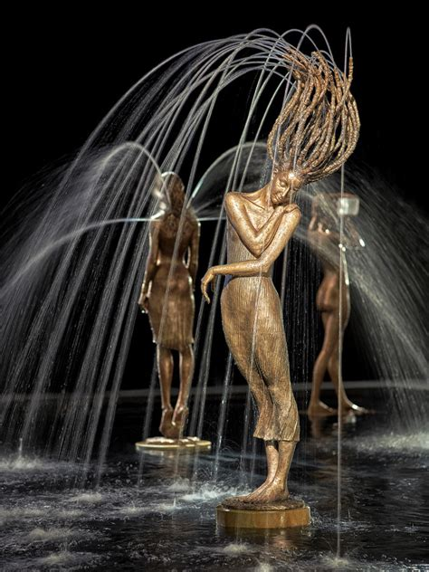 incredible fountain sculptures  water  complete