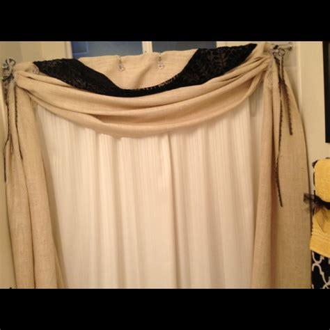 burlap swag curtains burlap shower curtain swag traci s love it board pinterest
