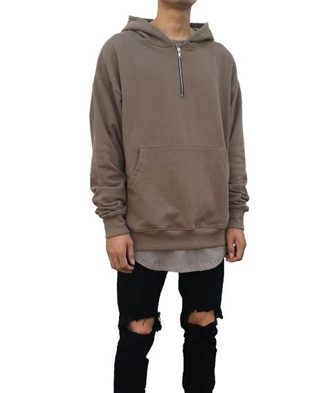 Half Side Zip Sleeve Hoodie half zip up hoodie hardon clothes