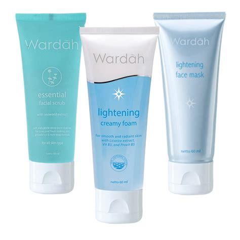 Harga Wardah Essential Peeling wardah lightening foam lightening mask