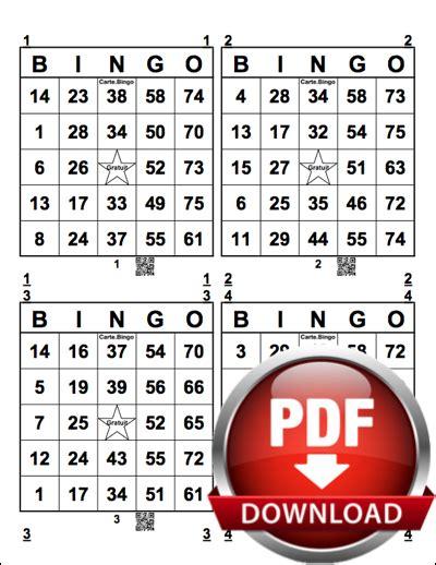 Grille De Bingo by Imprimer Des Cartes Bingo Pdf G 233 N 233 Rateur Bingo