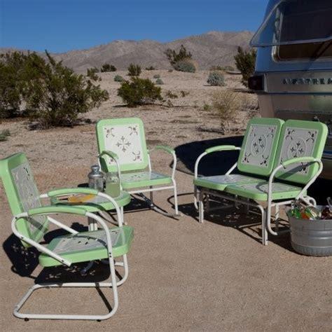 paradise cove retro metal conversation set in mint green