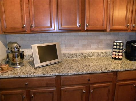 kitchen blue kitchen tiled backsplash with polkadot pattern combined with brown wooden cabinet