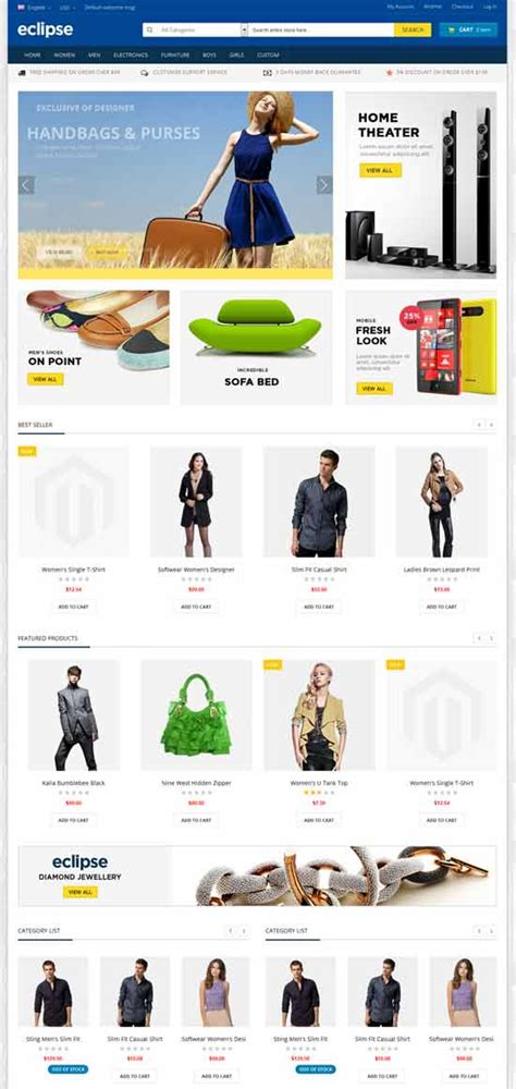 eclipse themes magento 79 best free responsive magento themes premium magento