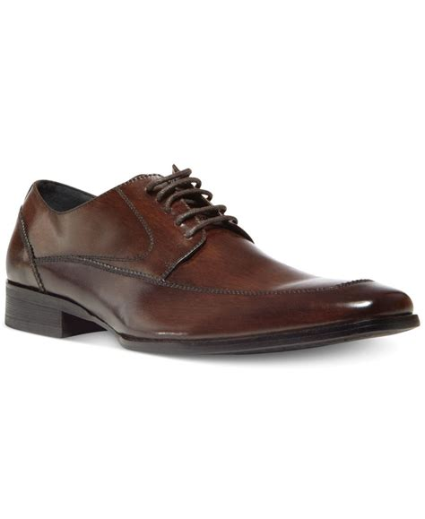 steve madden sayge lace up dress shoes in brown for lyst
