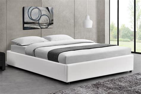 lit blanc lit oakley structure de lit blanc avec coffre de