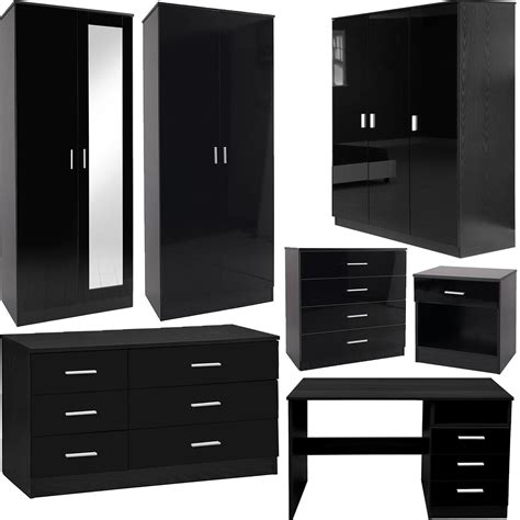 blackhawk black 3 piece bedroom set ebay gladini xl