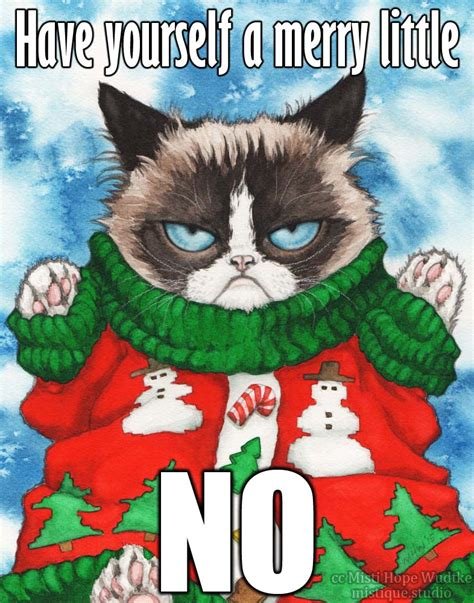 Meme Ugly Christmas Sweater - grumpy cat s ugly sweater the meme by mistiquestudio on
