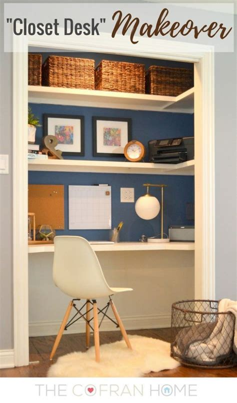 desk built into closet 25 best ideas about closet turned office on