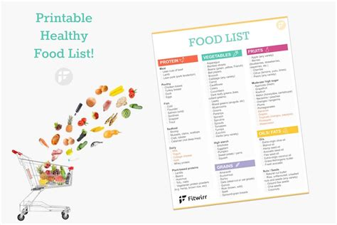 printable slimming world shopping list the ultimate healthy grocery list for when you want to eat