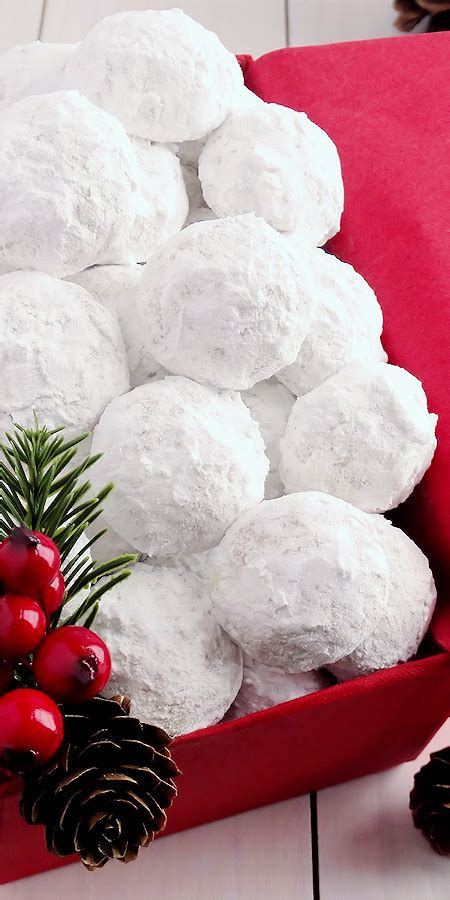 Snowball Christmas Cookies {best ever}   Wicked Good Kitchen