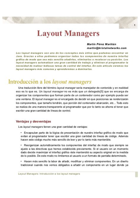 que es layout manager java layouts java