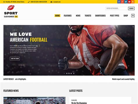 themes wordpress free sport 20 best sports wordpress themes 2018 athemes