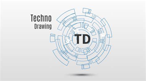 New Technology Template Prezi Template Techno Drawing Preziland Preziland