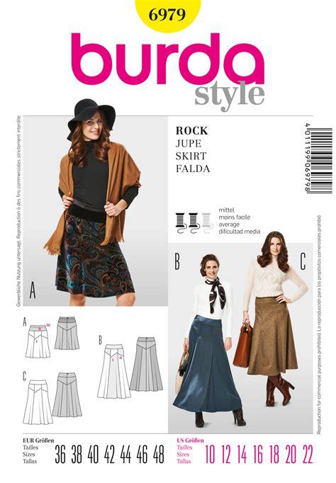 pattern review burda 7700 burda 6979 gored skirt