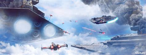 star wars battles concept art star wars epic sky battle by dylan kowalski on deviantart