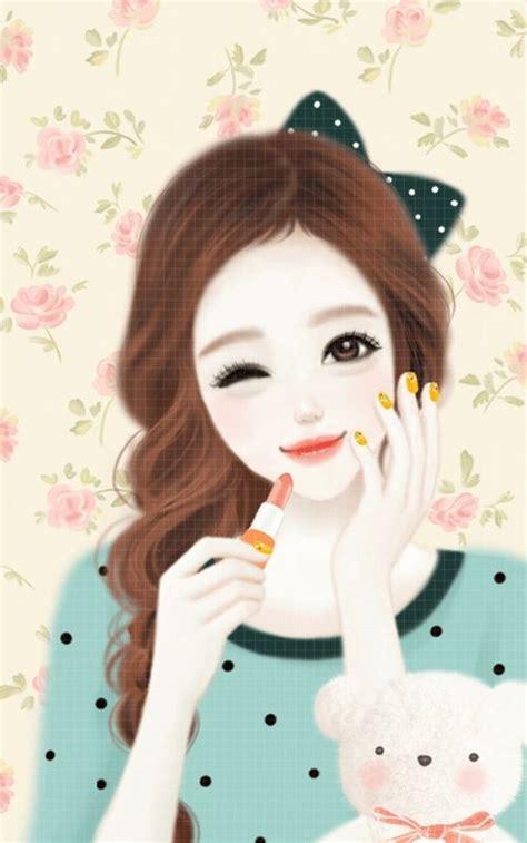 wallpaper cute korean girl cartoon 85 best anime korea images on pinterest wallpapers
