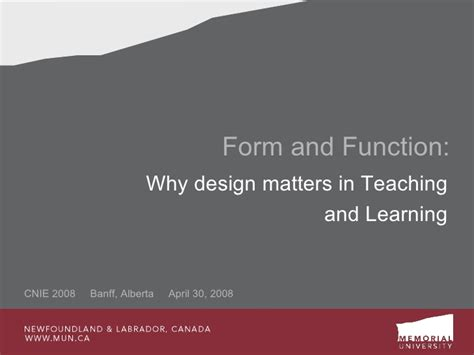 design form and function form and function why design matters in instructional design