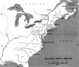 colony of map colonial america