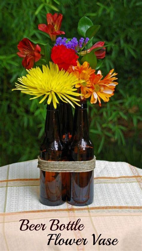 """DIY Beer Bottle Flower Vase from @DianeHoffmaster   """"Best"""