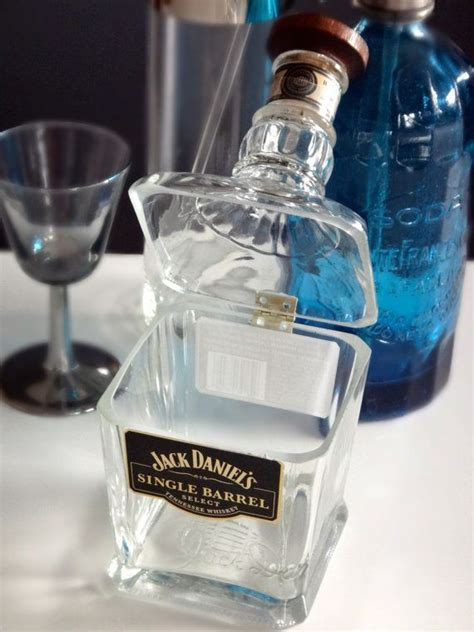 hinged glass dish from a liquor bottle would be so easy to make this would make a