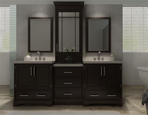 bathroom vanity hutch cabinets ariel m085d esp stafford 85 inch double sink vanity set in