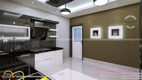 interior bedroom kitchen dining kerala home design