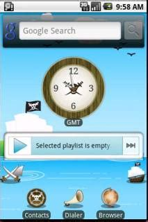 clock themes android mobile download pirates clock sea android theme htc theme