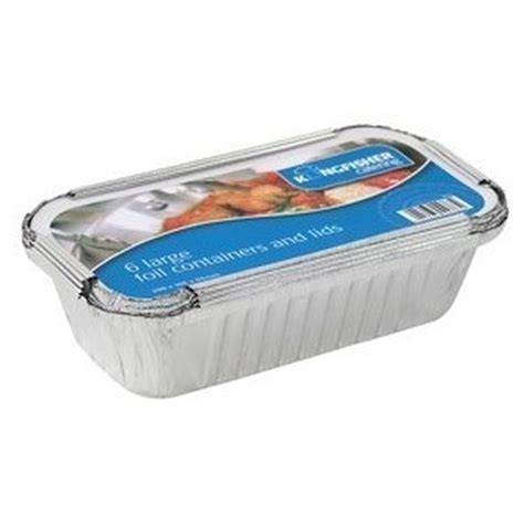 large food container kingfisher 6 pack large foil food container lids buy at qd stores