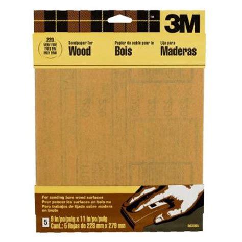3m 9 in x 11 in 220 grit garnet sand paper 5