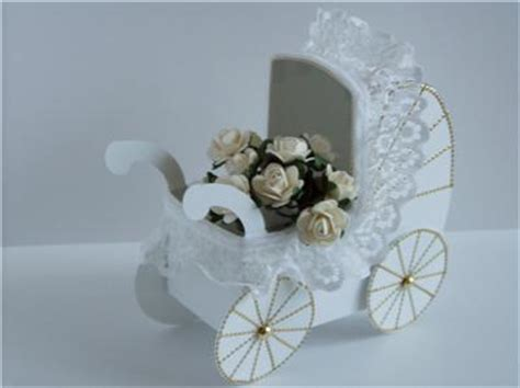 3d baby pram keepsake gift paper craft card template ebay