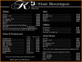 salon price list template 11 price list template for hair salon plantemplate info