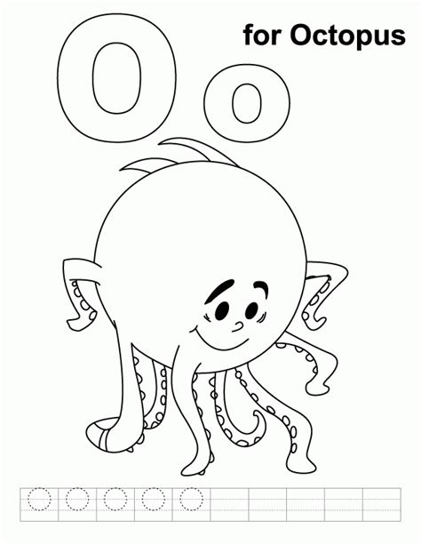 O From Home Coloring Pages by Octopus Coloring Pages For Coloring Home
