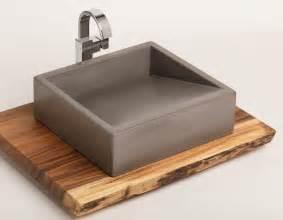 Handmade Kitchen Furniture concrete vessel ramp sink iamthelab