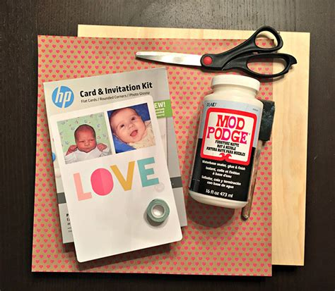 hp card and invitation kit template diy photo collage washi wall myprintly