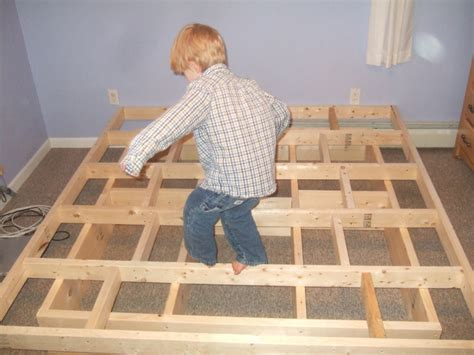 How To Build A Simple Bed Frame Platform Bed Frame Plans Storage Woodproject