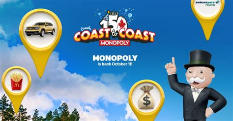 How Many Mcdonalds Instant Wins Can You Use At Once - mcdonalds canada monopoly coast to coast 2017 collect game pieces and win prizes at