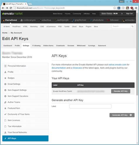 Themeforest Secret Api Key | toolbox of the smart wordpress developer the envato