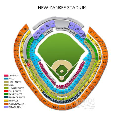 Yankee Stadium Seating Chart View Section by Yankee Stadium Tickets Yankee Stadium Information
