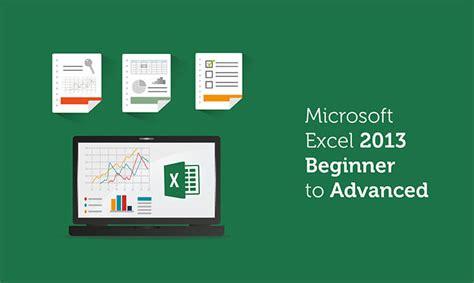 excel 2013 intermediate tutorial pdf microsoft excel 2013 beginner to advanced global edulink
