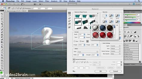 youtube photoshop tutorial cs5 creating 3d objects with repouss 233 adobe photoshop cs5